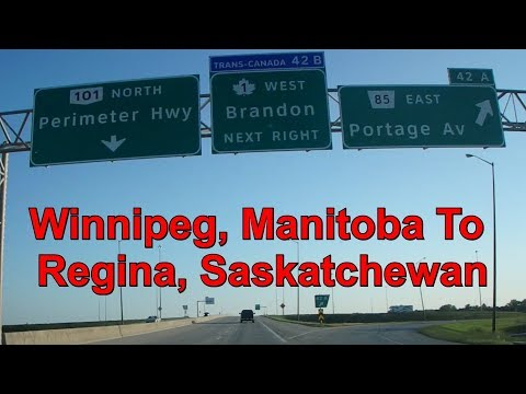 2017-07-23 Winnipeg to Regina (6 hrs drive, 1hr video) nothing to see. try not to sleep