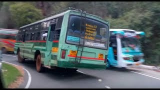 Amazing skill of TNSTC bus driver  - TURNING IN GHAT SECTION - OOTY