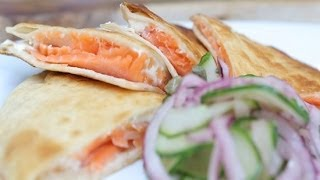 Smoked Salmon Quesadilla Recipe | El Nosh Food Truck | Popsugar Cookbook