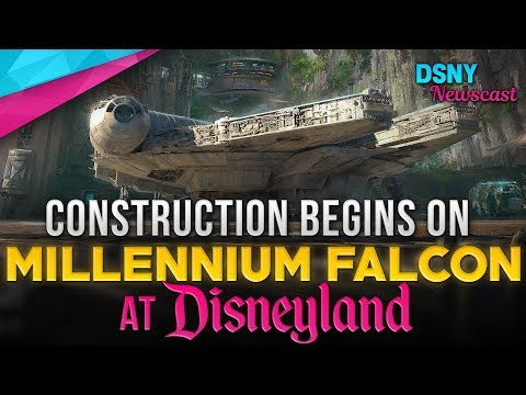 Construction Begins On MILLENNIUM FALCON At Disneyland's Galaxy's Edge - Disney News - 10/18/18