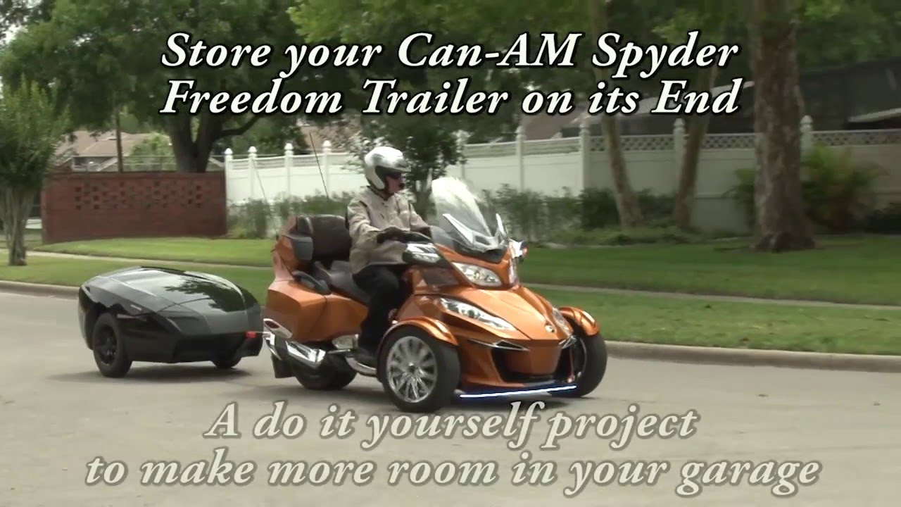 Store your can am spyder freedom trailer on end part 1 overview store your can am spyder freedom trailer on end part 1 overview youtube solutioingenieria Choice Image