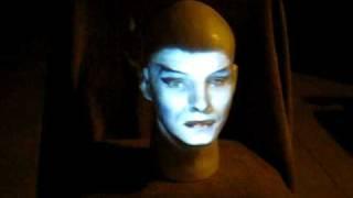 Ultraprojector.com Model 100 Projector: Madame Leota Projected Onto Styrofoam Head