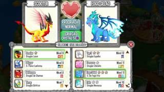 Como fazer Dragão Lendario , Gomoso e Fogo frio - Dragon city