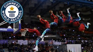 Farthest forward flip trampoline slam dunk - Guinness World Records