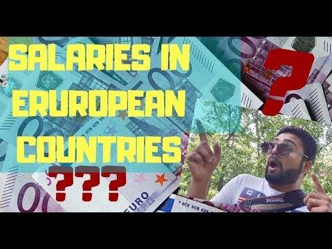 Salaries In Europe || Minimum Earnings ||