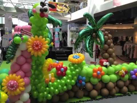 Singapore balloon decorations service youtube for Balloon decoration ideas youtube