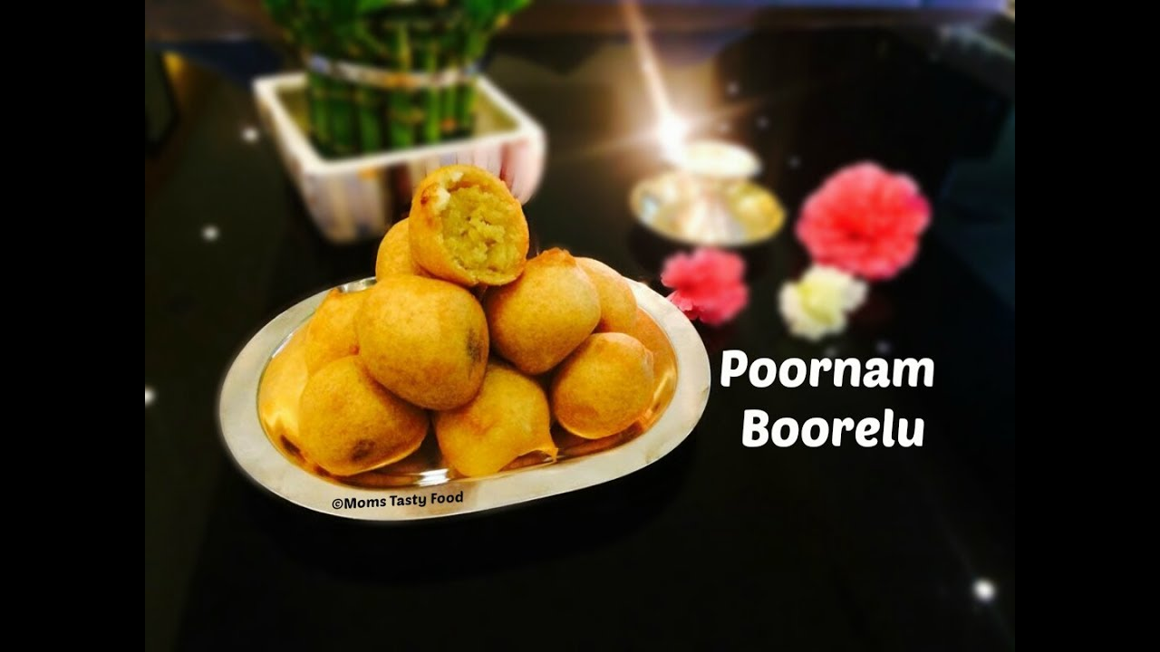 Moms Tasty Food: Poornam Boorelu (Poornalu ) - How To Make