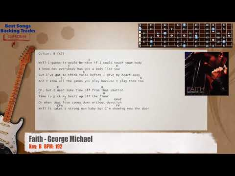 Faith - George Michael Guitar Backing Track with chords and lyrics ...