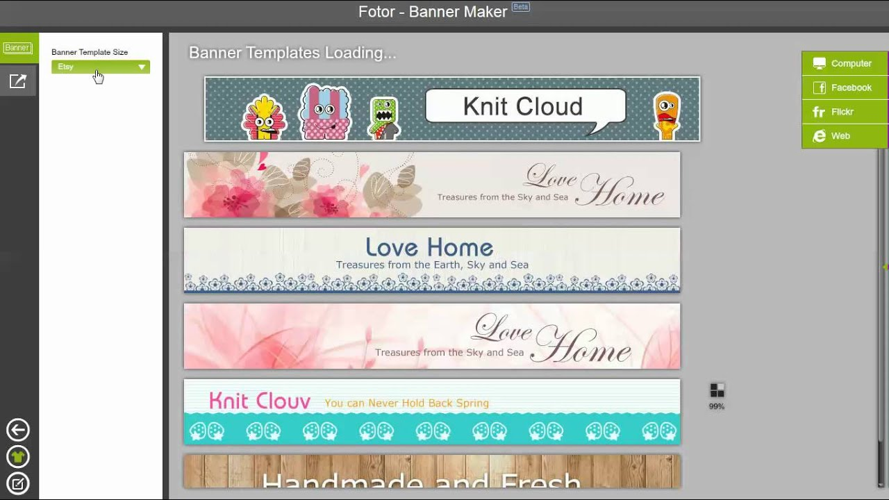 Fotor Banner Maker Tutorial - YouTube
