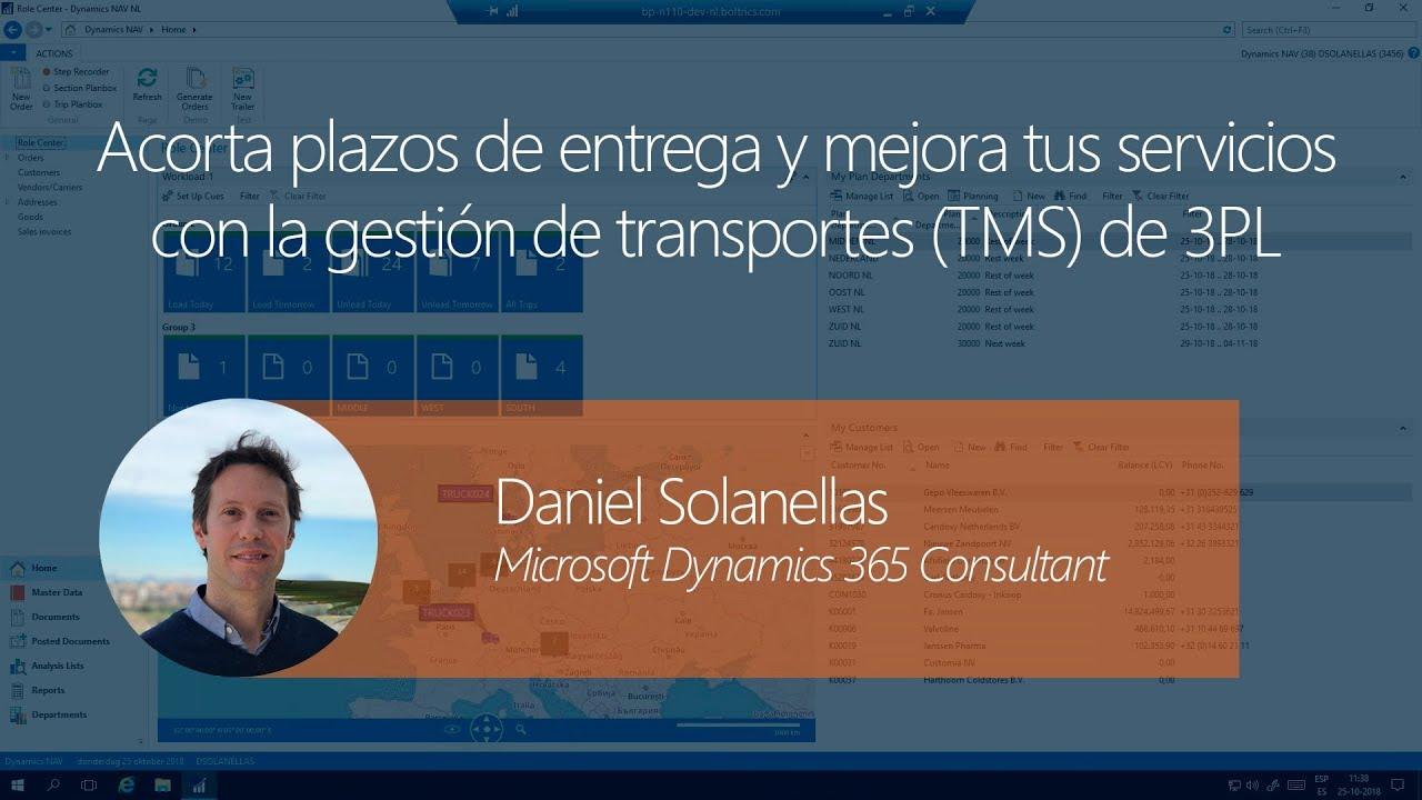 La gestión de transporte con el módulo TMS de 3PL Dynamics