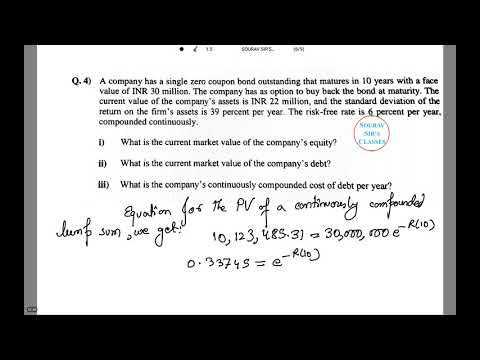 FINANCIAL ECONOMICS CURRENT MARKET VALUE OF COMPANY'S EQUITY CT 8 ACTUARIAL SCIENCE