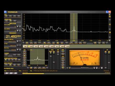 "21460 kHz ""Cupid Radio"" Dutch Shortwave Pirate Radio Station heard in Michigan on Perseus SDR"