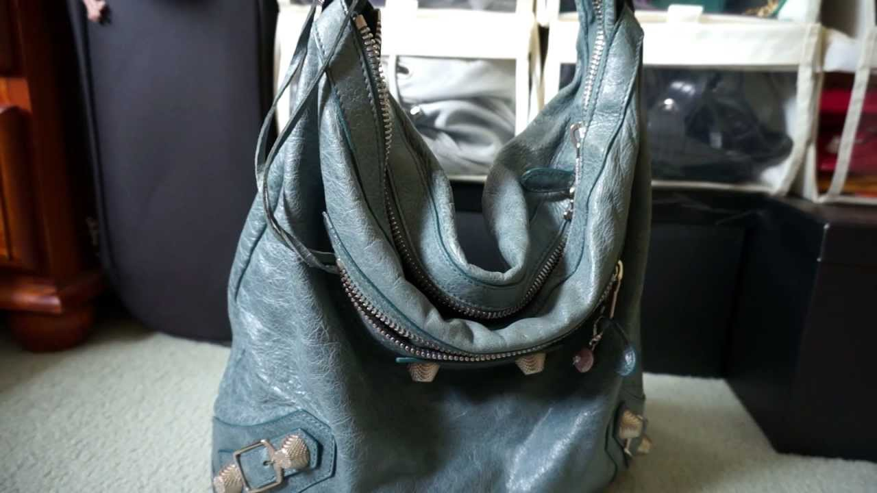 Manual Árbol Saco  Review and Contents of Balenciaga Day Bag Tempete 2009 GSH Giant 21  hardware - YouTube