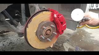 Hizli Ve Kolay Fren Kaliperi Nasil Boyanir How To Paint Brake