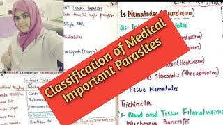 Classification of medically important Human Parasites in Urdu and Hindi