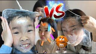 누가 이길까? 이상한 게임 도전 미션 게임배틀 l 엄마와 아이들의 대결 l Games for family l how to play fun candy  challenge games