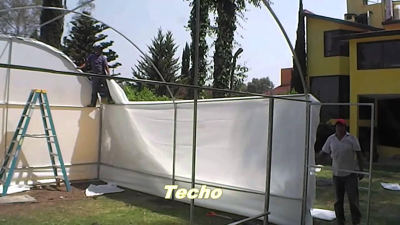 colocacion de plastico en invernadero