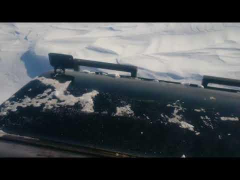 Bombardier b12 breaking trail to churchill manitoba