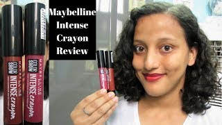NEW Maybelline New York Color Show Intense Crayon Demo |Review|Swatch
