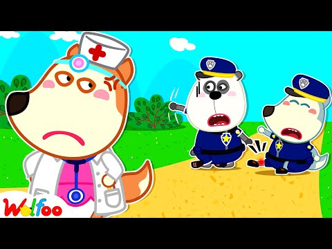 Lucy, Don't Feel Angry! Police Wolfoo Got a Boo Boo and Need Your Help | Wolfoo Family Kids Cartoon