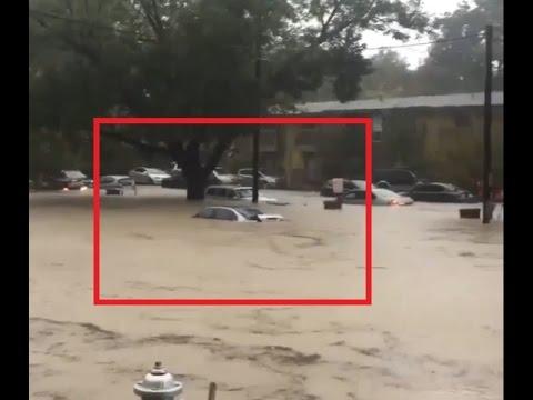Flash flood Austin, TX.FOOTAGE