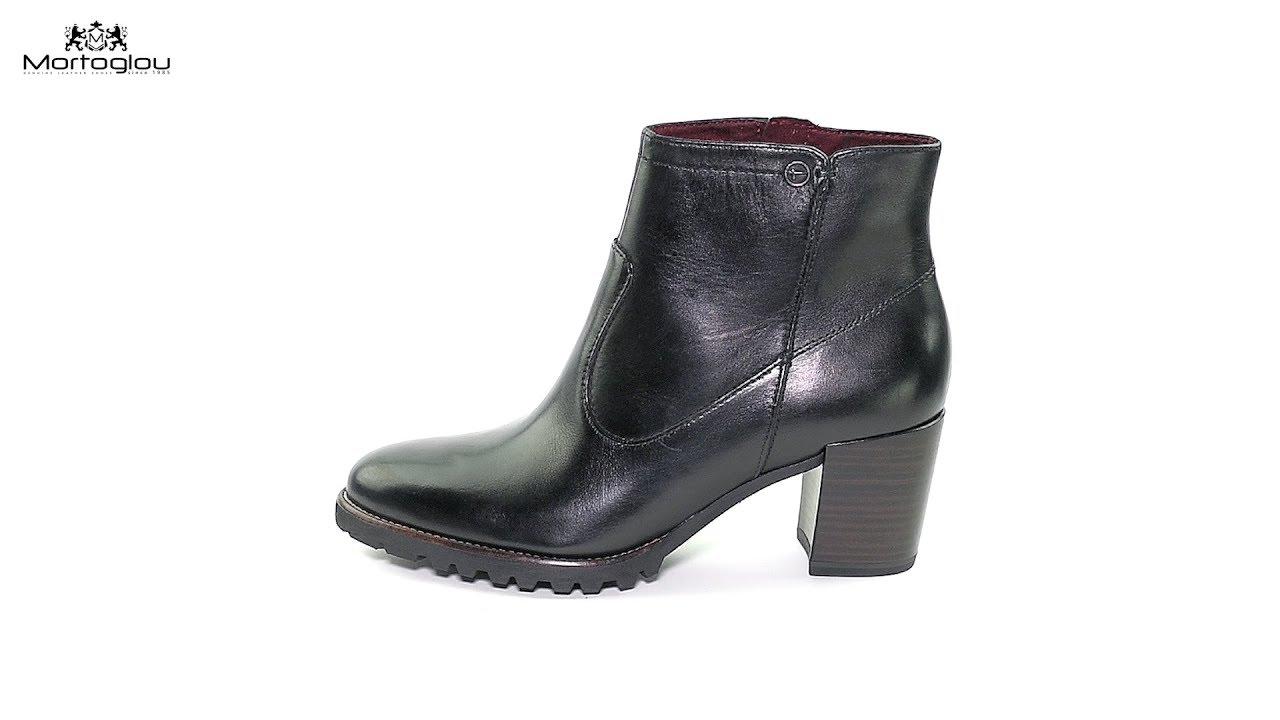 Γυναικεία Μποτάκια Tamaris 25332 Black Leather - YouTube 55ac5917b93