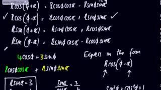 Core 3 - Trigonometry (5) - acos(x) + bsin(x)   Rcos(x+a) and Rsin(x+a)   Harmonic Form