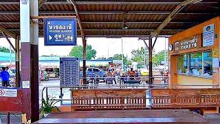 Railway. Thailand. Train Window View. Train Ride to the Death Railway Part 1/ Таиланд из окна поезда