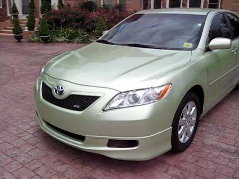 2008 toyota camry hybrid converted to se style lime green walk around youtube. Black Bedroom Furniture Sets. Home Design Ideas