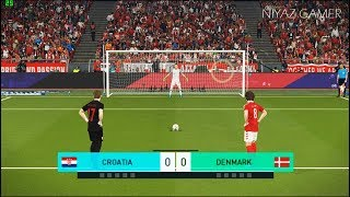CROATIA vs DENMARK | Penalty Shootout | PES 2018 Gameplay PC