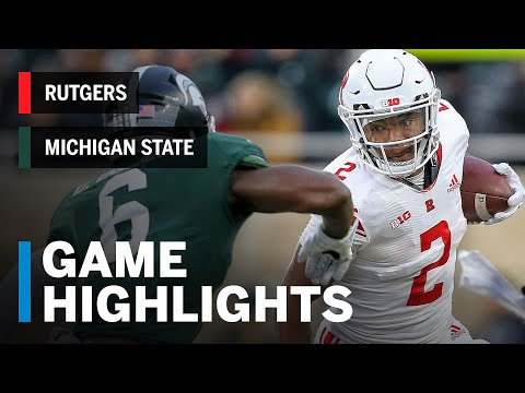 Highlights: Rutgers Scarlet Knights at Michigan State Spartans | Big Ten Football