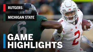 Highlights: Rutgers Scarlet Knights at Michigan State Spartans | Big Ten Football