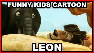 Leon Cartoon for Kids #1 - Funny Elephants Surprise the Lion!