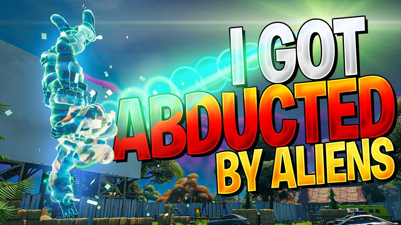 I GOT ABDUCTED BY A UFO! (How To Get Abducted By Aliens In Fortnite)