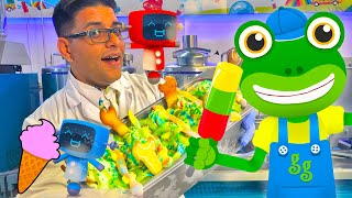 Gecko Visits The Ice Cream Factory | Gecko's Real Vehicles | Ice Cream Truck For Children