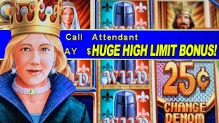 $75 BETS! ★ QUEEN'S KNIGHT HIGH LIMIT ➜ JACKPOT HANDPAY!!
