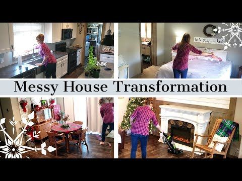 MESSY HOUSE TRANSFORMATION/BEFORE AND AFTER/CLEAN WITH ME/EXTREME CLEANING MOTIVATION