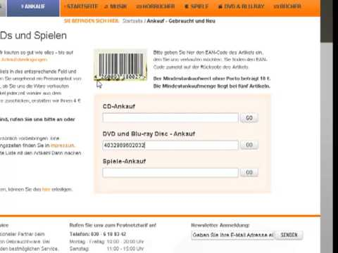 CD Ankauf  auf www.secondhandcds.de, Anleitung / Hilfe (CD, DVD, Spiele, Bücher)