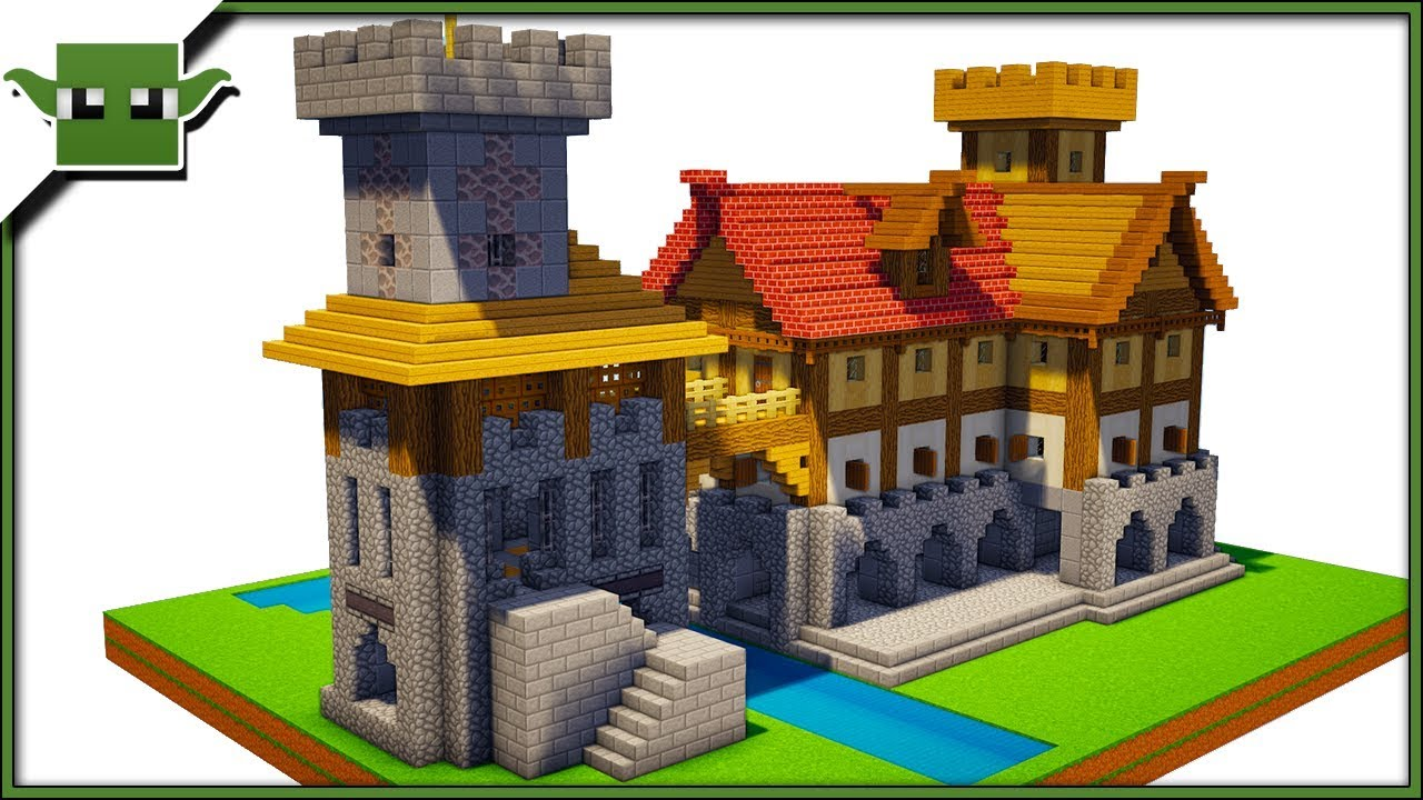 Minecraft Medieval Fortified House 2 Easy 5x5 Building System Youtube