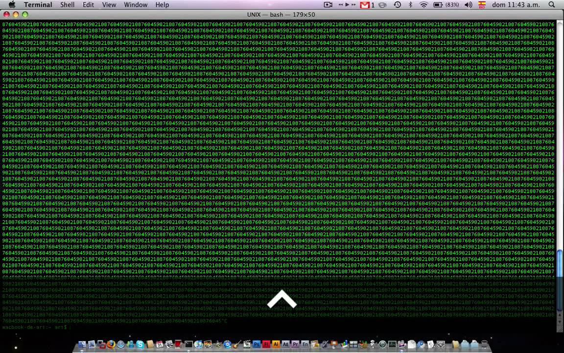 Matrix Effect with Terminal (Mac)