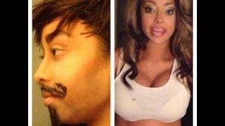 Gender swap drag king makeup female to male transformation ftm