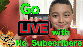 How to livestream without 1000 subscribers on Youtube . Go Live without 1000 Subscribers
