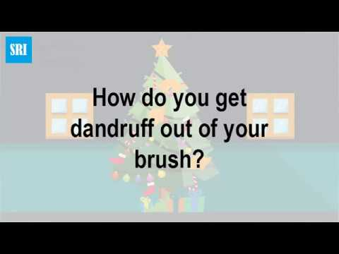 How do you get dandruff out of your brush