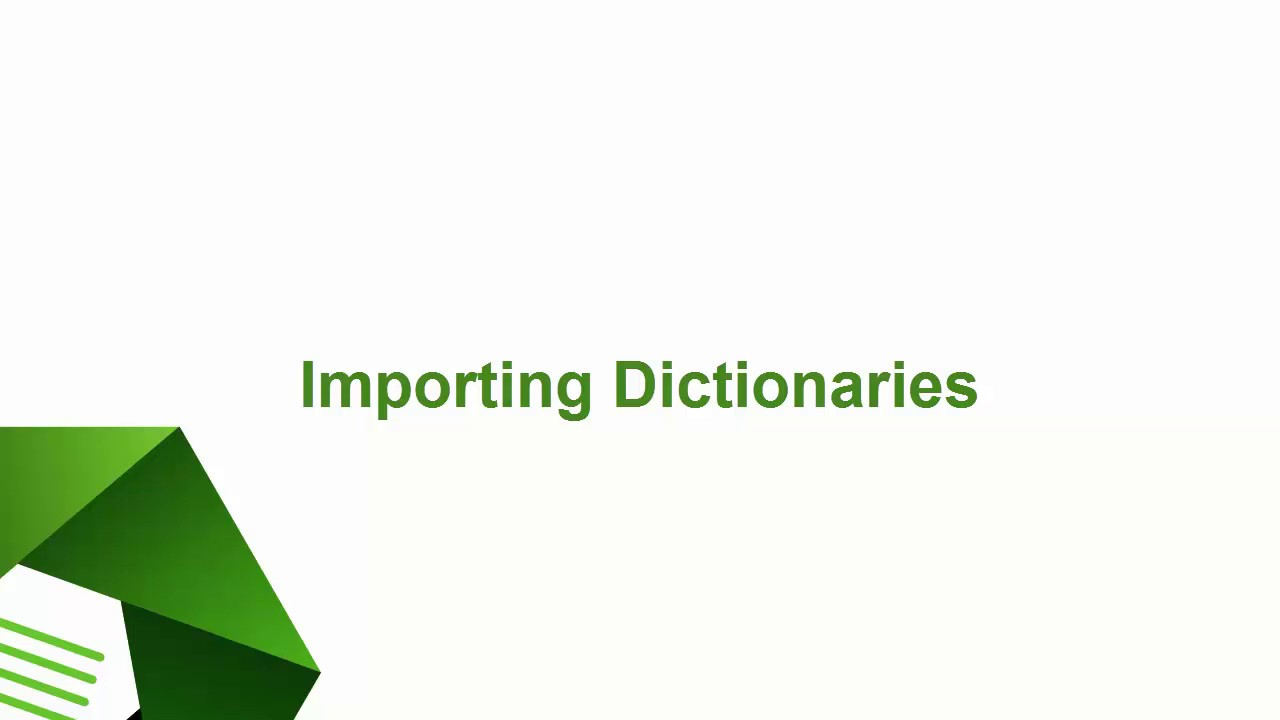 WordStat – learn how to import categorization dictionaries