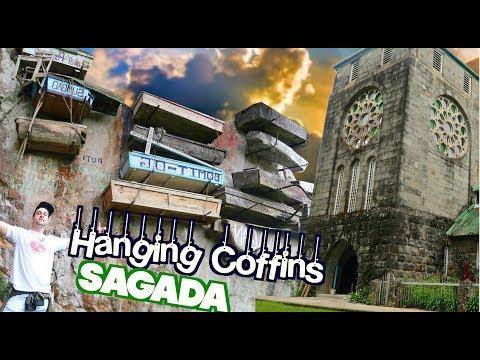 MYSTERIOUS Hanging COFFINS!   Exploring BEAUTIFUL SAGADA!! ⛪🌳