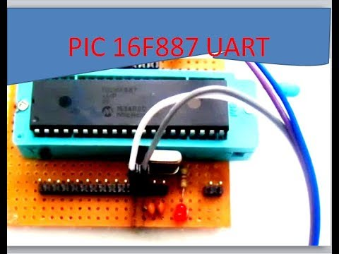 serial communication of 16f887||application of uart(serial communication)  in pic microcontroller||