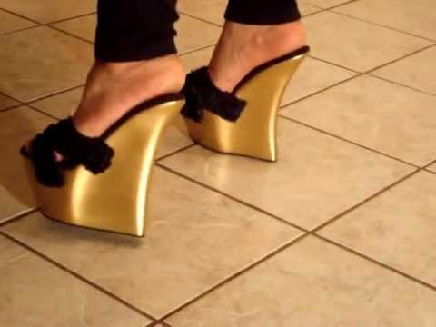 Extreme Gold Lush 8in Platform Wedges Youtube