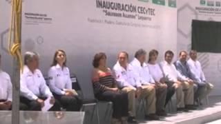 Inaugura RMV escuela de CECYTEC en ejido Lequeitio de Francisco I  Madero, Coah