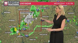 Severe thunderstorm warnings in several GA counties