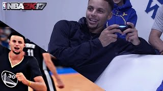 STEPHEN CURRY PLAYS NBA 2K17 EARLY MAD ABOUT LOWERED STATS! + GAMEPLAY IN DESCRIPTION !